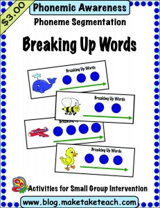 Breaking up words