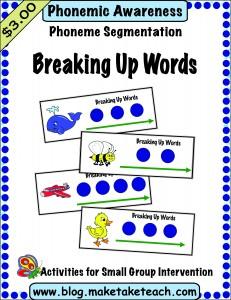 Breaking up words