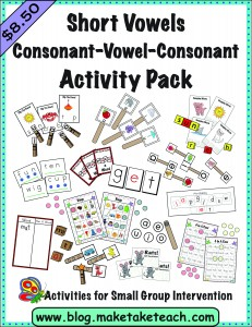 Short Vowel CVC pack