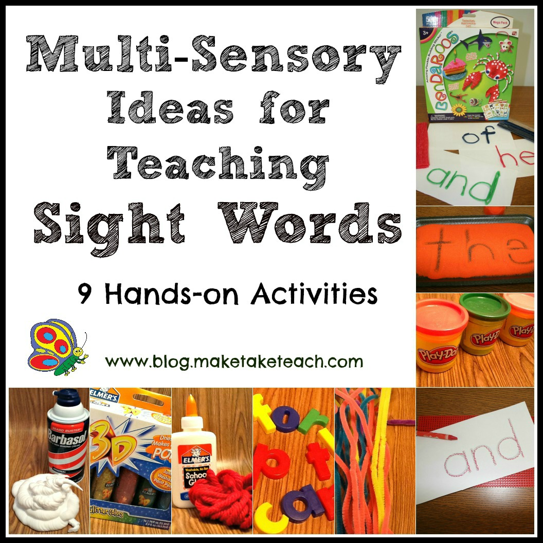 Worksheet How To Learn Sight Words For Kindergarten multi sensory ideas for teaching sight words make take teach 9multisensoryblogpic2