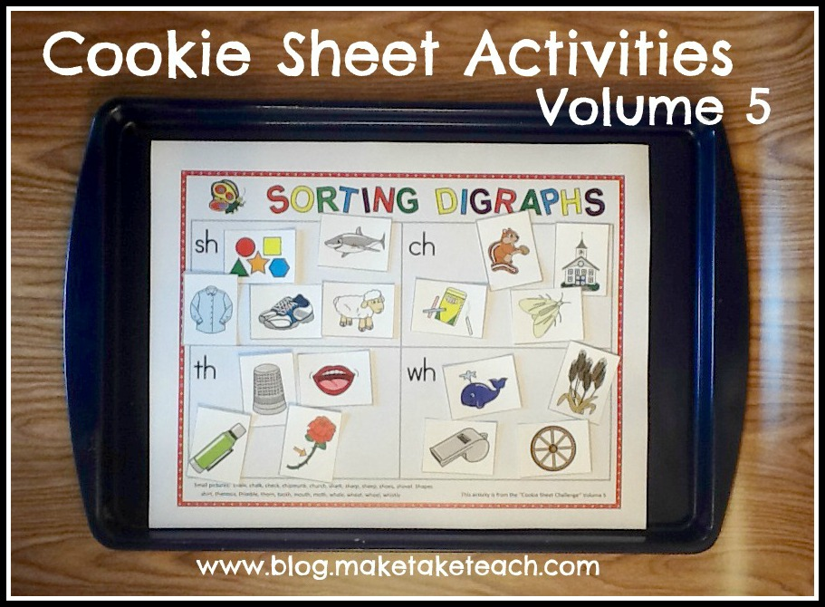 cookie sheet activities volume 5 blends and digraphs make take teach. Black Bedroom Furniture Sets. Home Design Ideas
