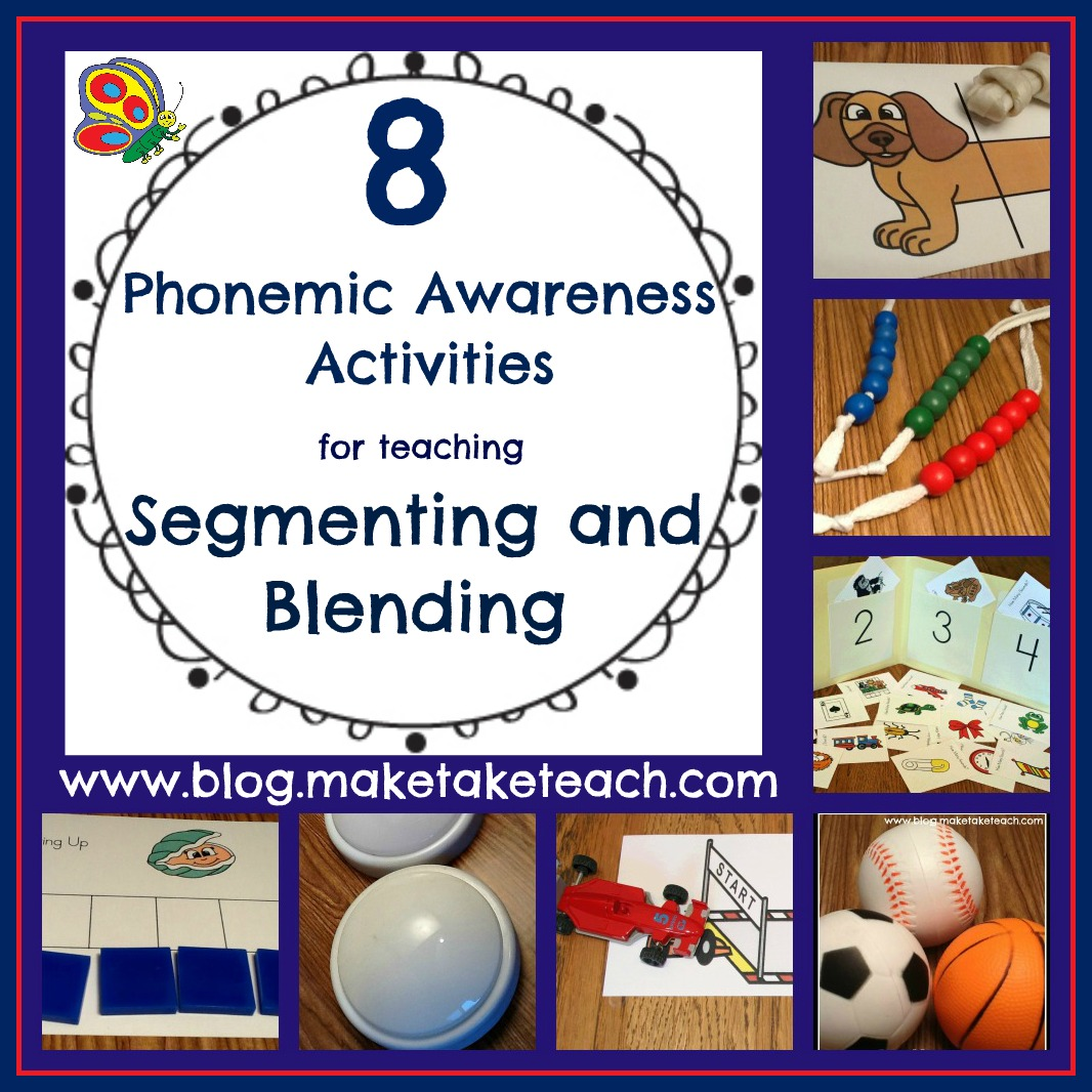 math worksheet : 8 great ideas for teaching segmenting and blending  make take  teach : Phonemic Awareness Worksheets Kindergarten