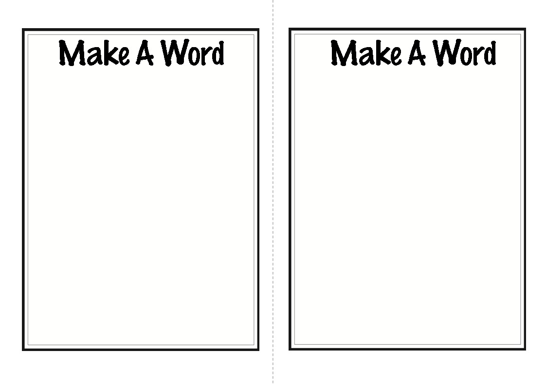 the following link to download this free template Make A Word Template