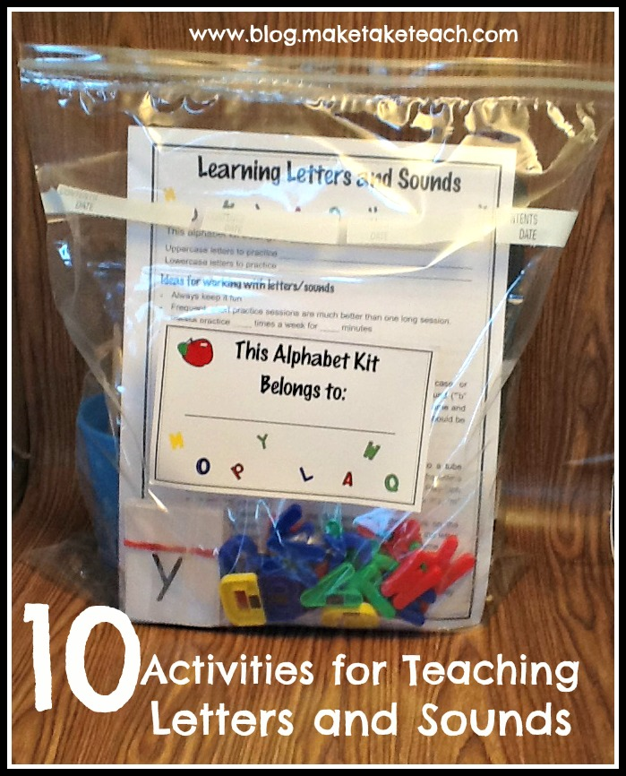 10 Activities for Teaching and Practicing Letters and ...