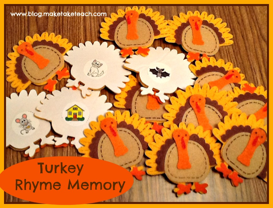 Thanksgiving Rhyming Activity - Make Take & Teach