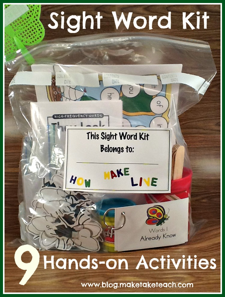 Teaching Sight Words - Make Take & Teach