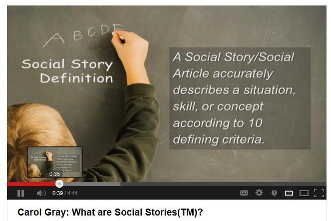 Carol Gray Social Stories