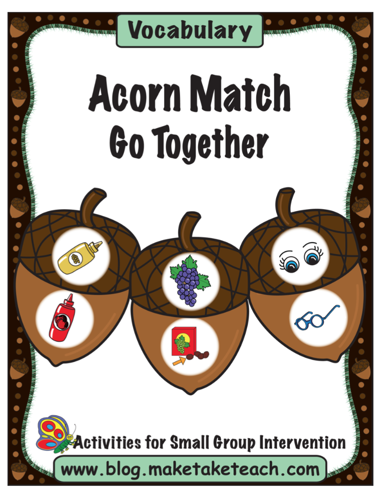 Acorn Match Vocab Pg 1