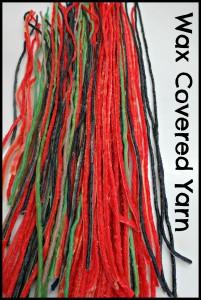 Wax yarn