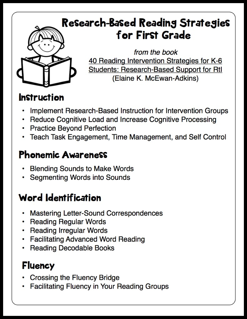Worksheet Reading 1st Grade research based reading intervention strategies make take teach 40 1bpfin