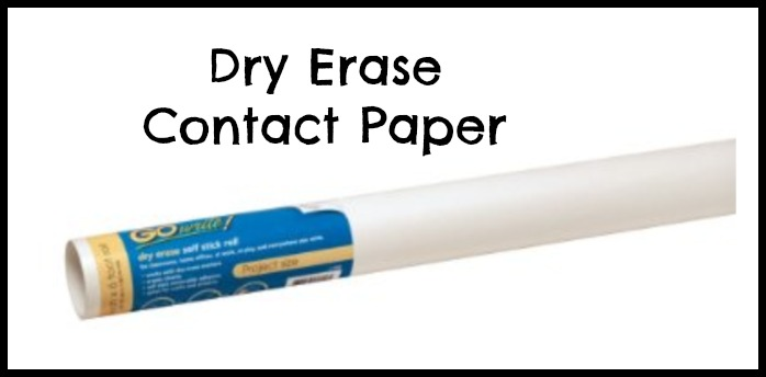Dry Erase Contact paper