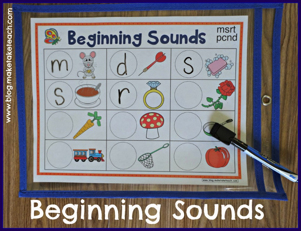 Beginning Sounds DE pocket