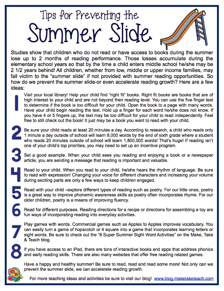 Image result for summer reading prevent summer slide