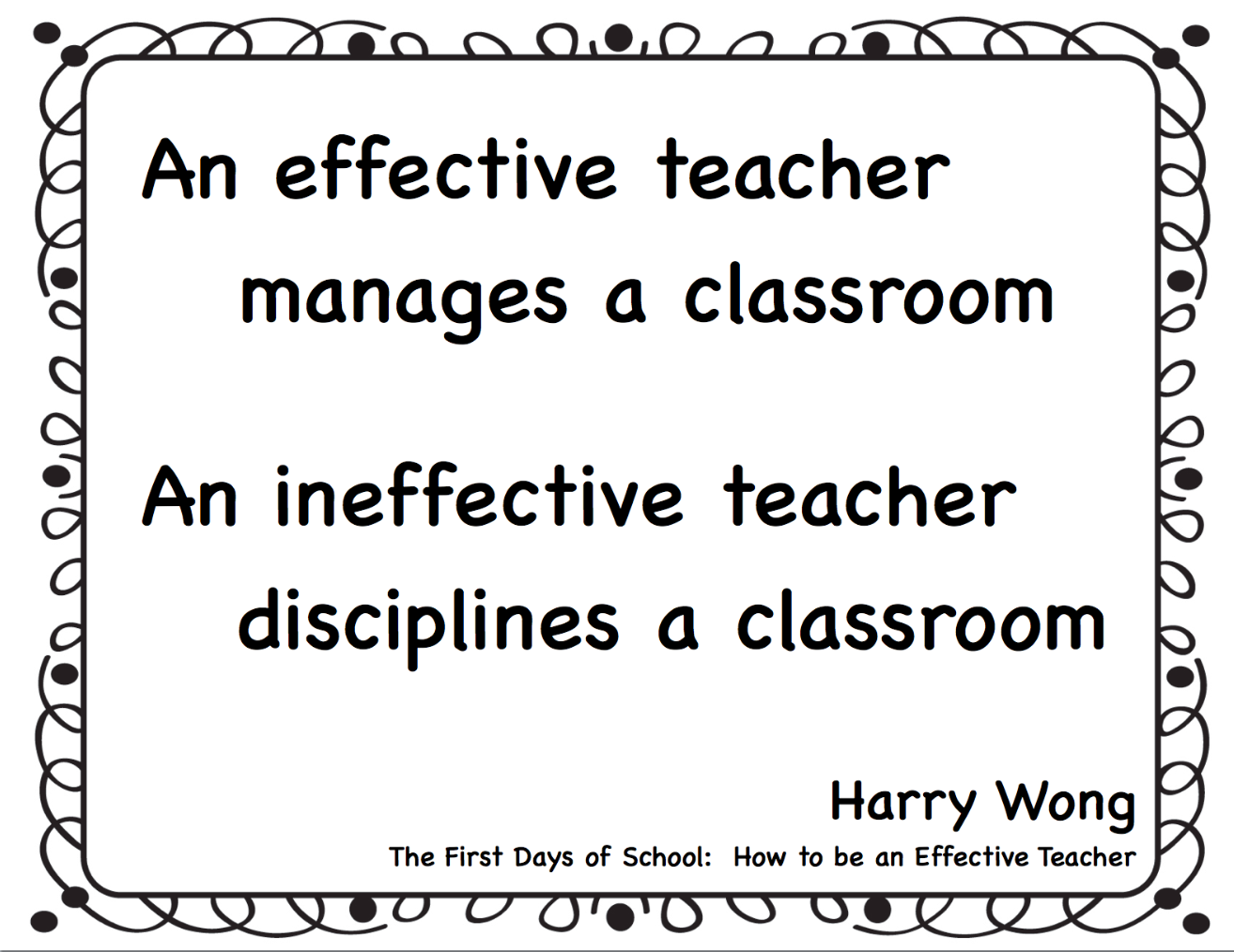 Classroom Quotes The Importance Of Teaching Procedures In The Classroom  Make Take