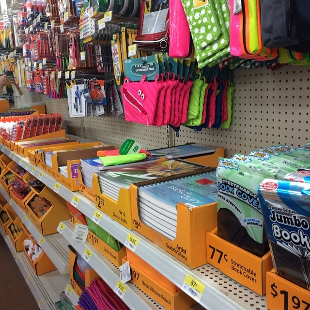 Say it ain't so. They were setting up the back to school aisle at Walmart. #maketaketeach #backtoschool