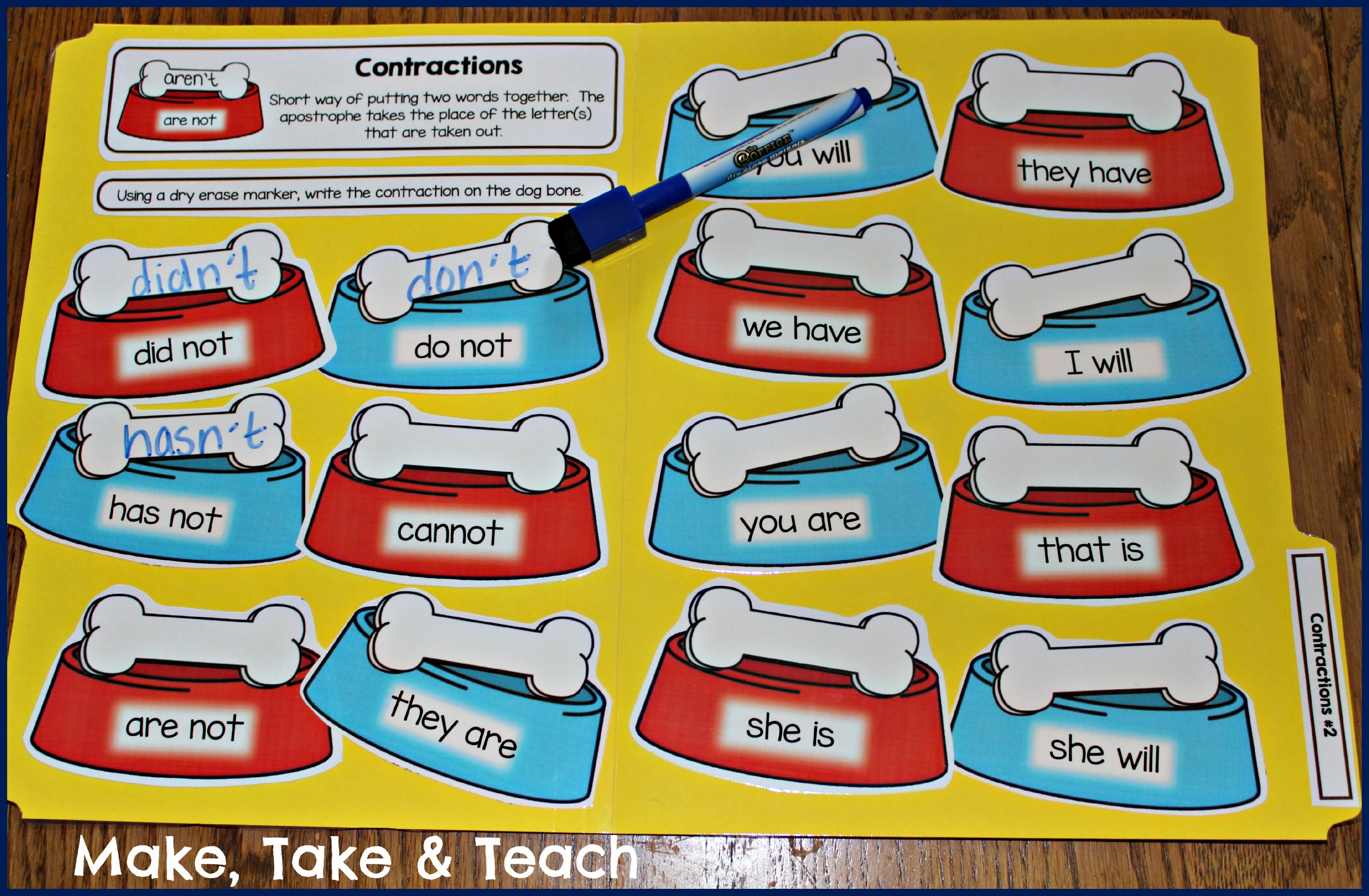 Hands-on Activities for Teaching Contractions - Make Take ...