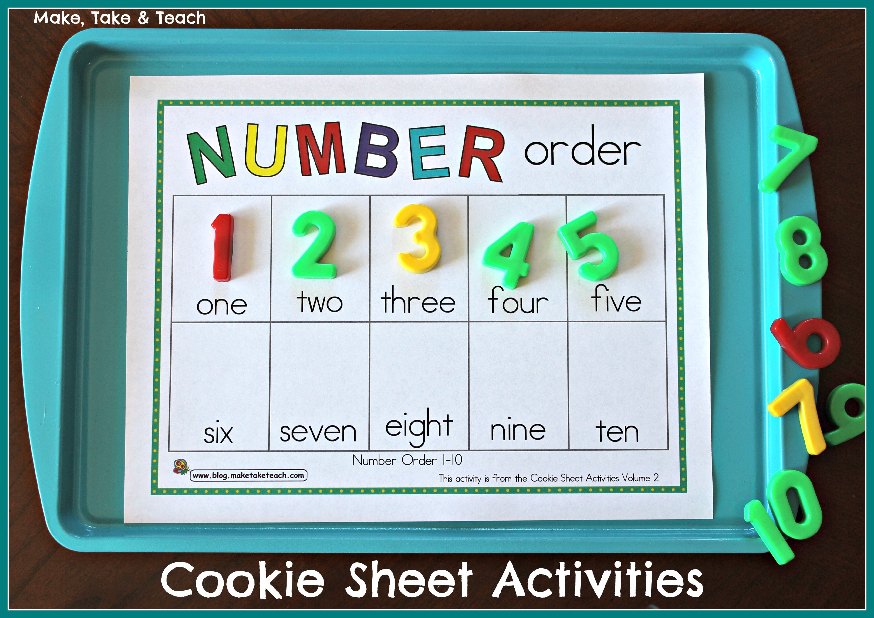 Cookie Sheet Activities Pre K- K Bundle- Early Literacy and Numeracy ...