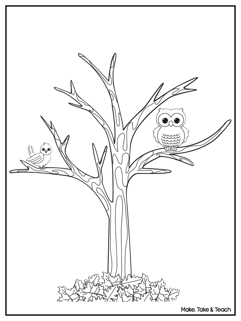 Tree Without Leaves Coloring Printable Coloring Pages Coloring Pages Of Trees Without Leaves