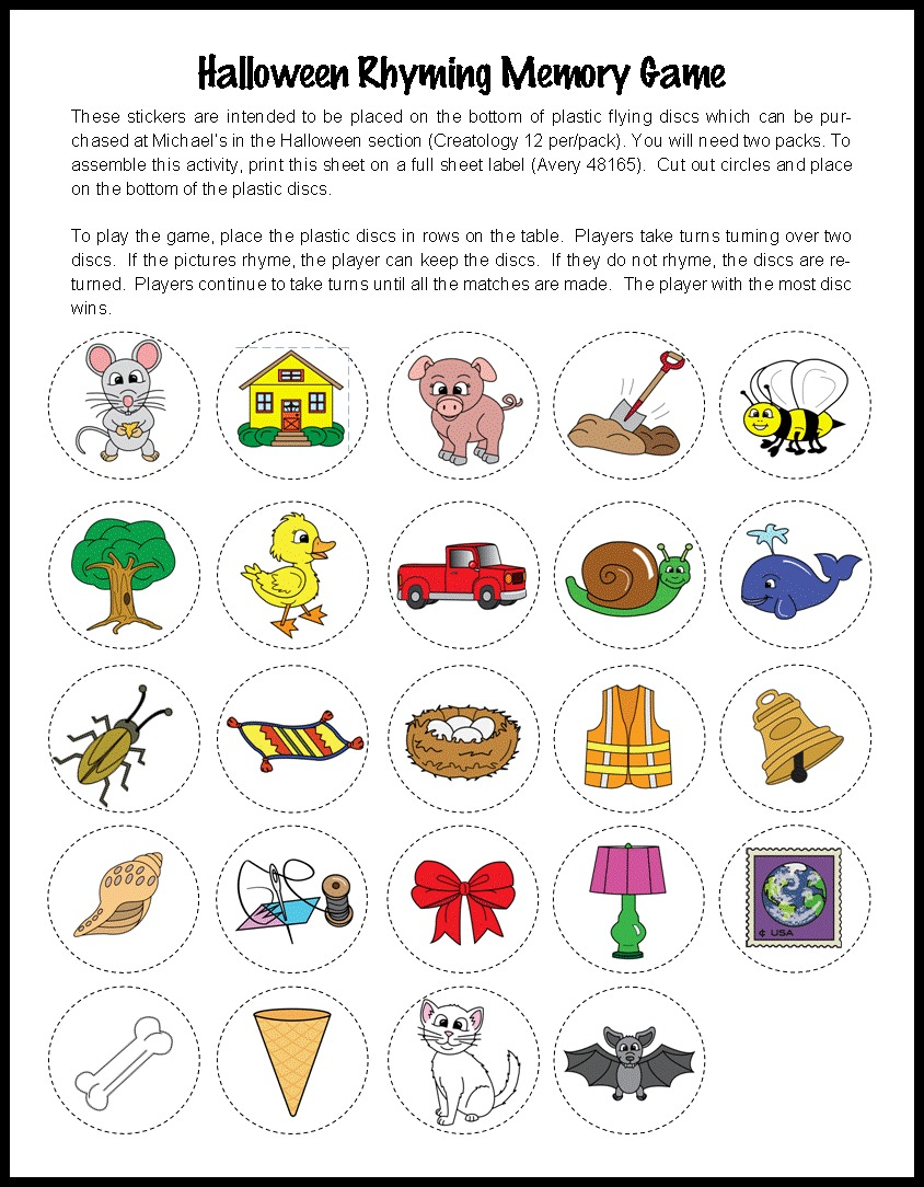 Worksheet Kindergarten Rhyming Words worksheet kindergarten rhyming words mikyu free halloween themed activities perfect for centers make take teach discsblog