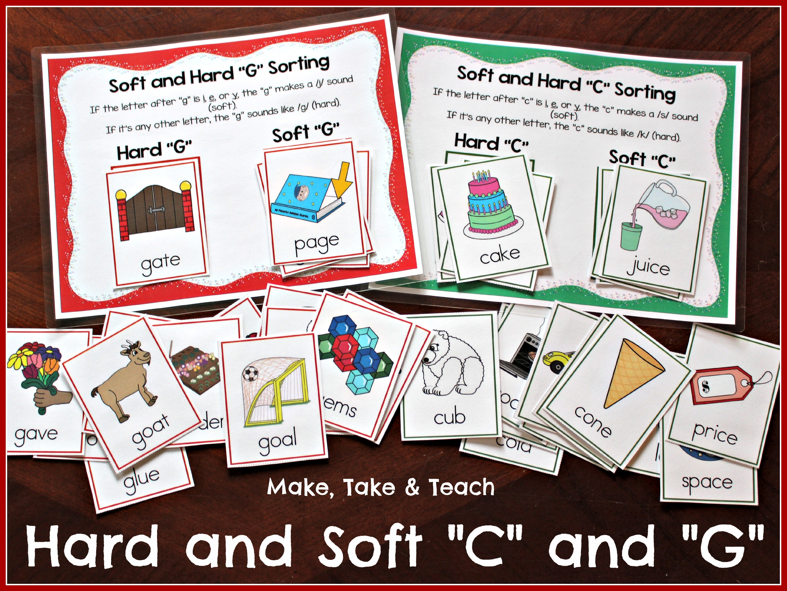 worksheet Soft G Sound Worksheets teaching the hard and soft c g make take teach hardsoftcgblogpic hardsoftcover