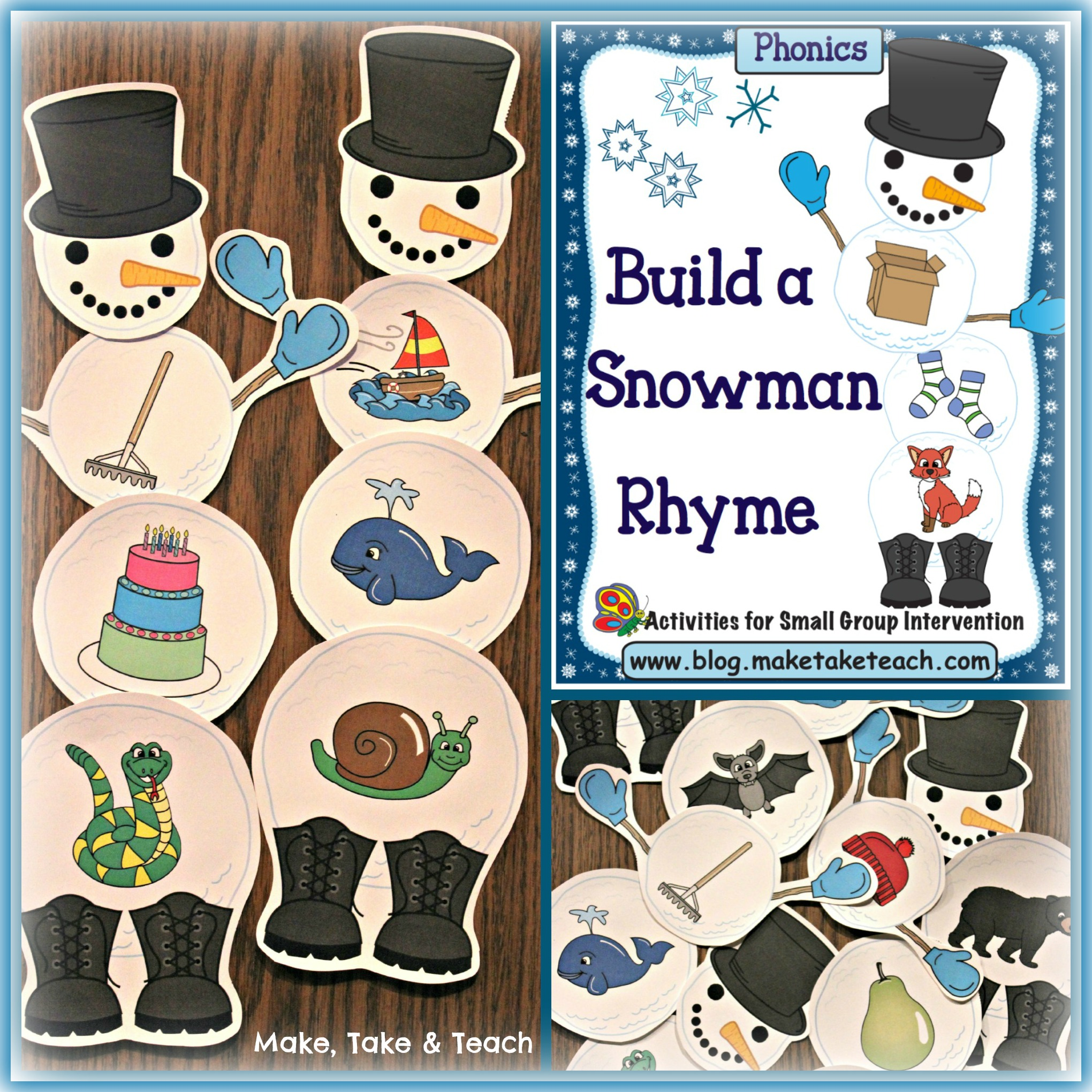 build a snowman activities for rhyme and beginning sounds make take teach. Black Bedroom Furniture Sets. Home Design Ideas