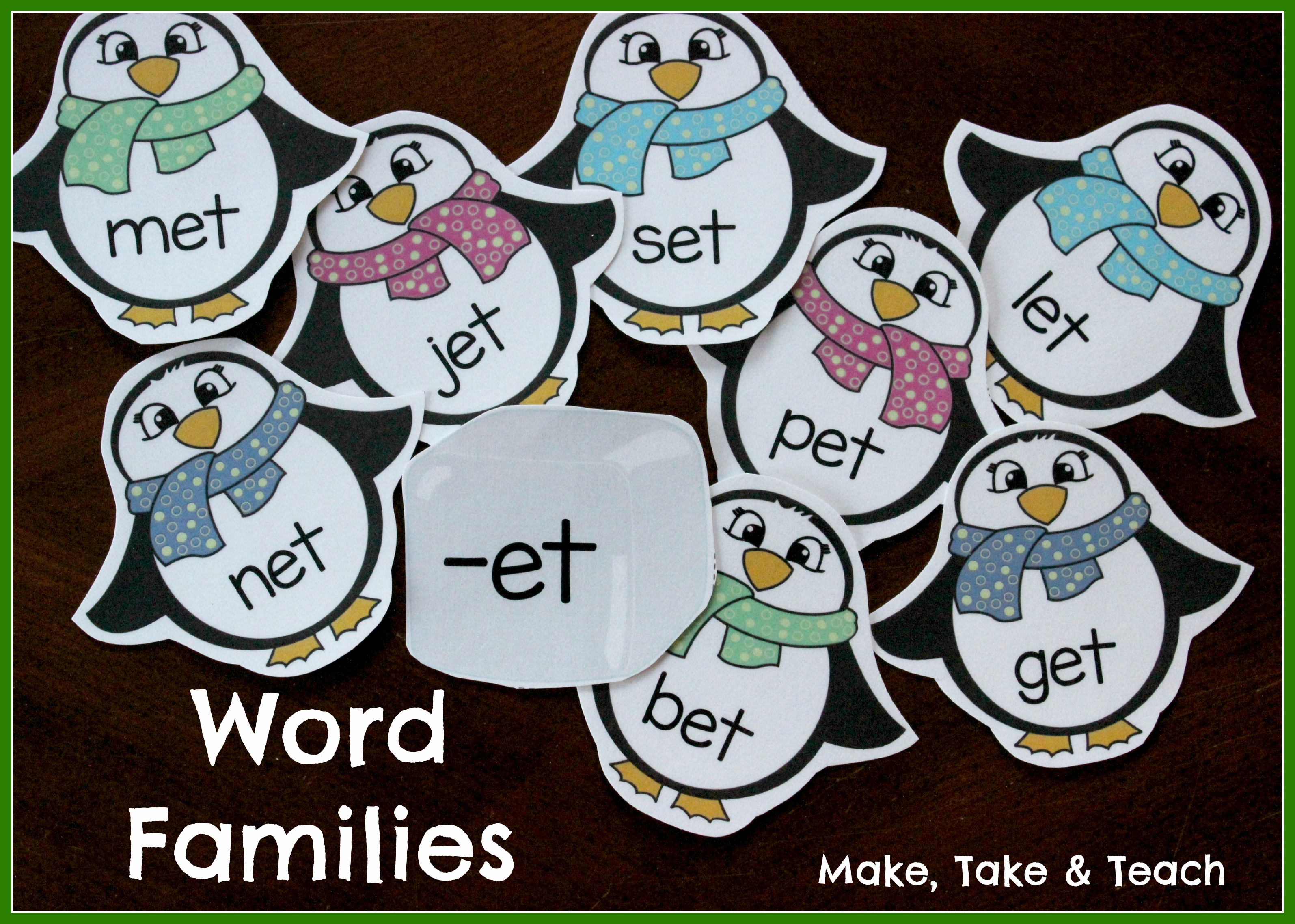 Word Family Penguins- Fun Winter Themed Activity for Teaching Word ...