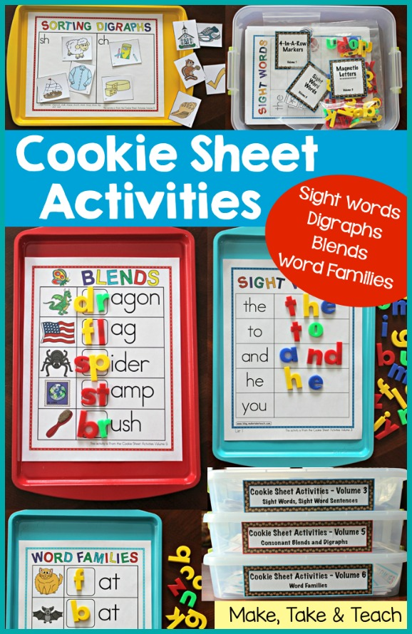 Cookie Sheet Bundle for Sight Words, Blends/Digraphs and Word ...