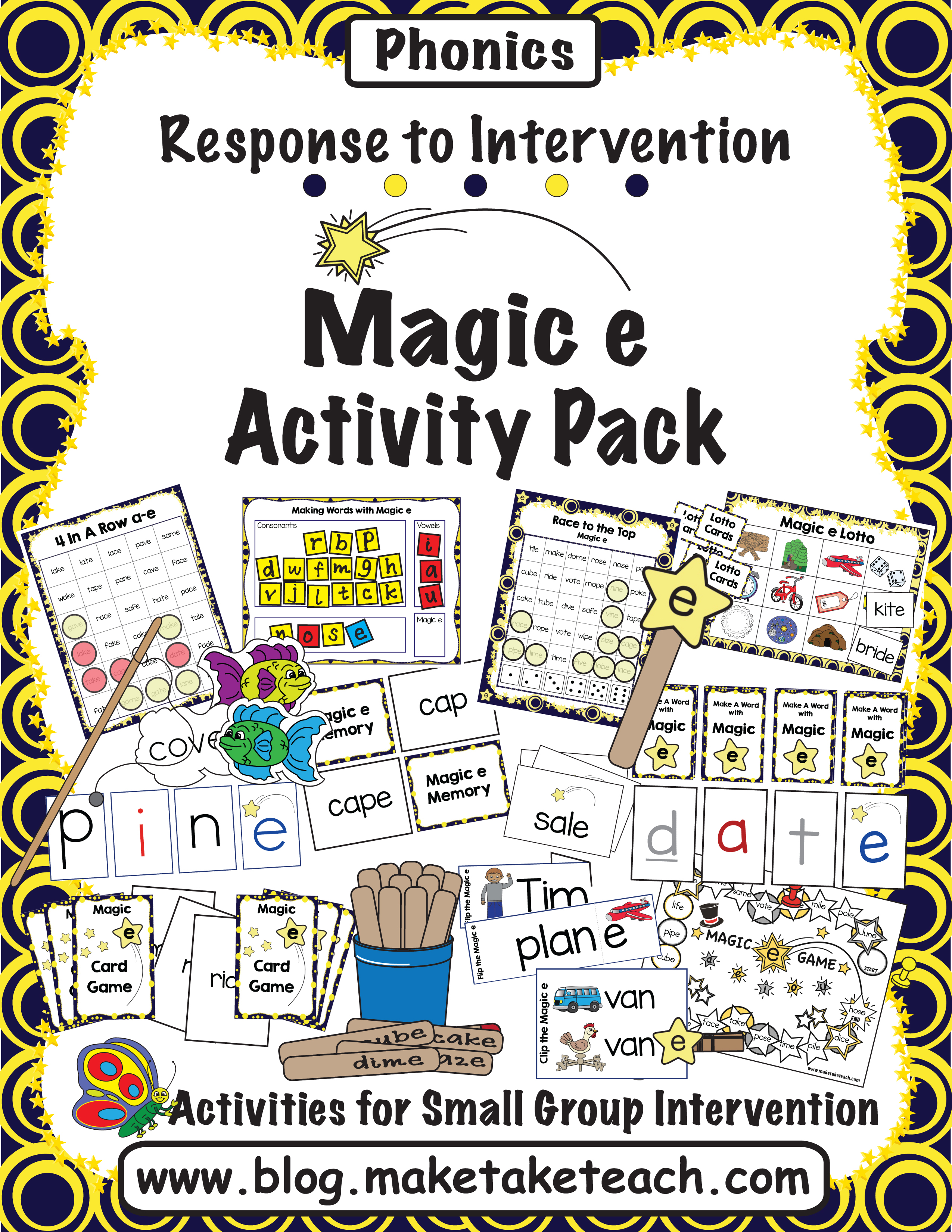 Resources For Teaching The Magic E Rule Make Take Teach