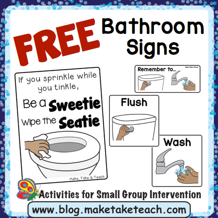 Free Bathroom Visuals Make Take Amp Teach