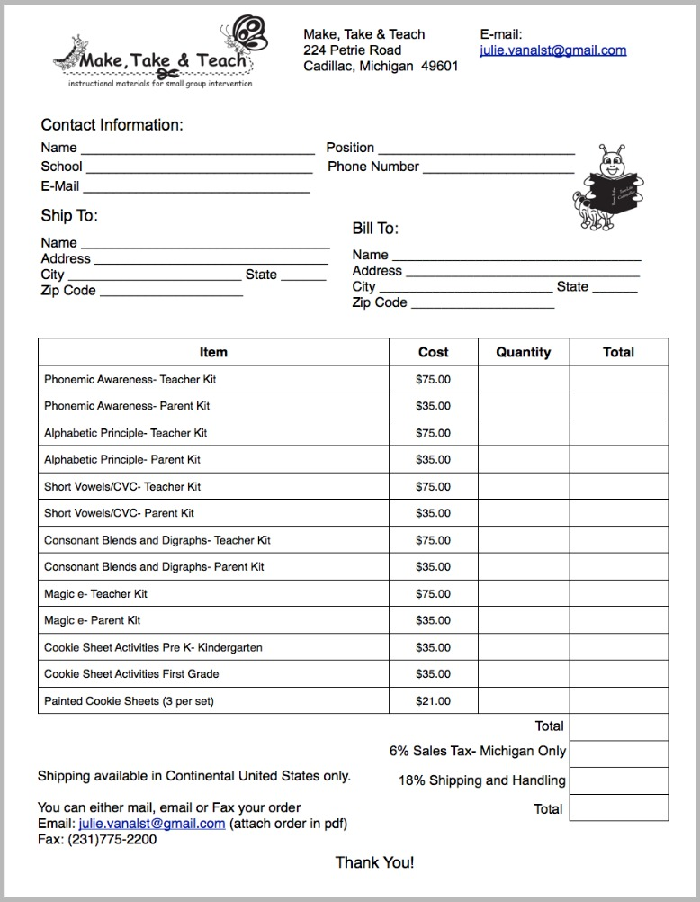 make a purchase order