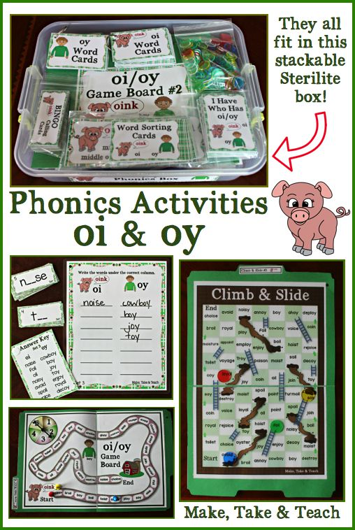 activities for teaching oi  u0026 oy