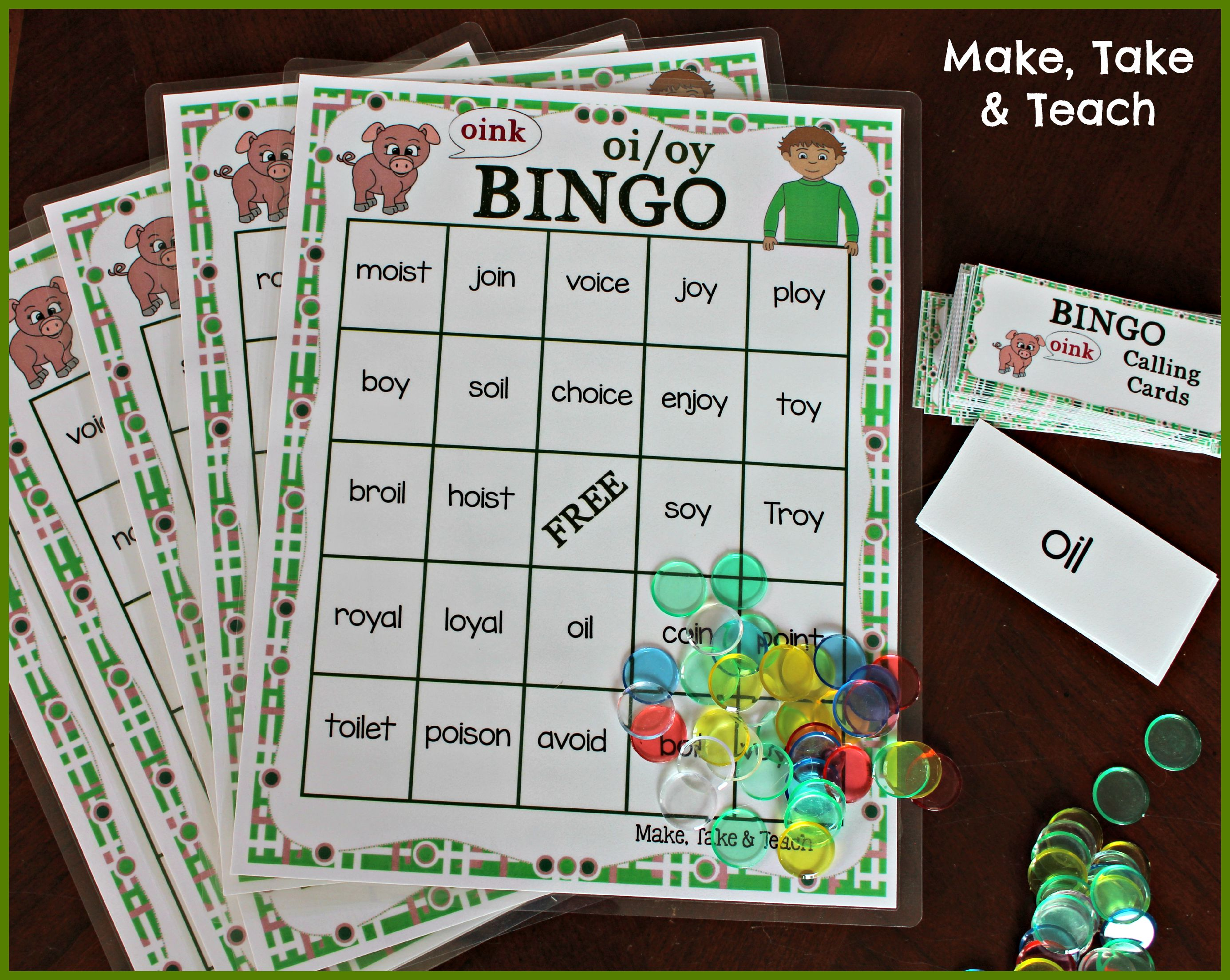 worksheet Words With Oi activities for teaching oi oy make take teach i love this activity as its a fast paced game which offers multiple practice opportunities reading the words students try to be first to