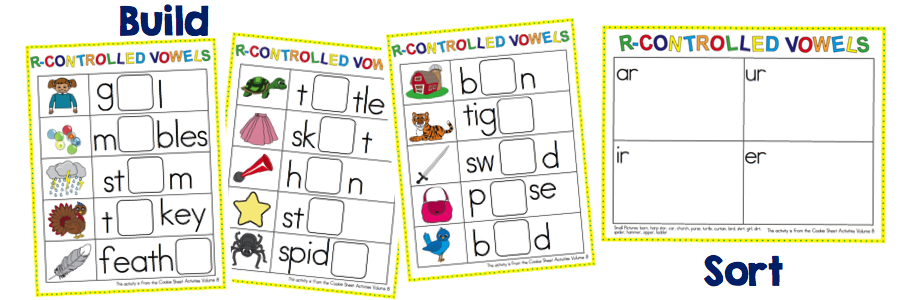 Cookie Sheet Activities for First Grade – Word Sort Templates