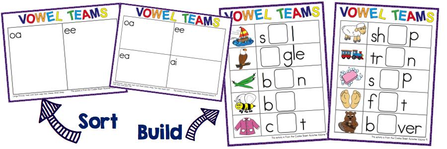 Vowel digraphs worksheets for grade 2
