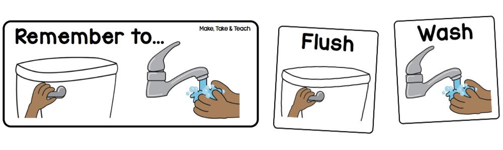 Just Bathroom Signs free bathroom visuals - make take & teach