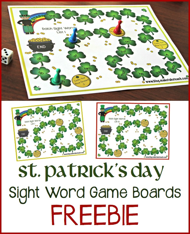 St Patrick's Day Game BoardsPin.001