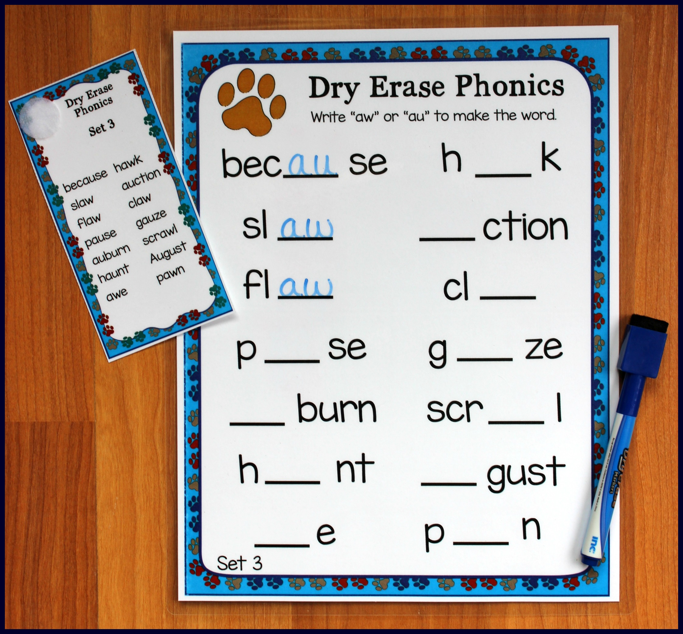 Activities For Teaching The Auaw Digraphs Make Take Teach