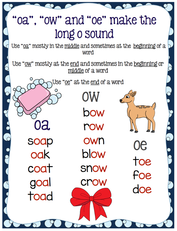 Activities For Teaching The Oaowoe Digraphs Make Take Teach