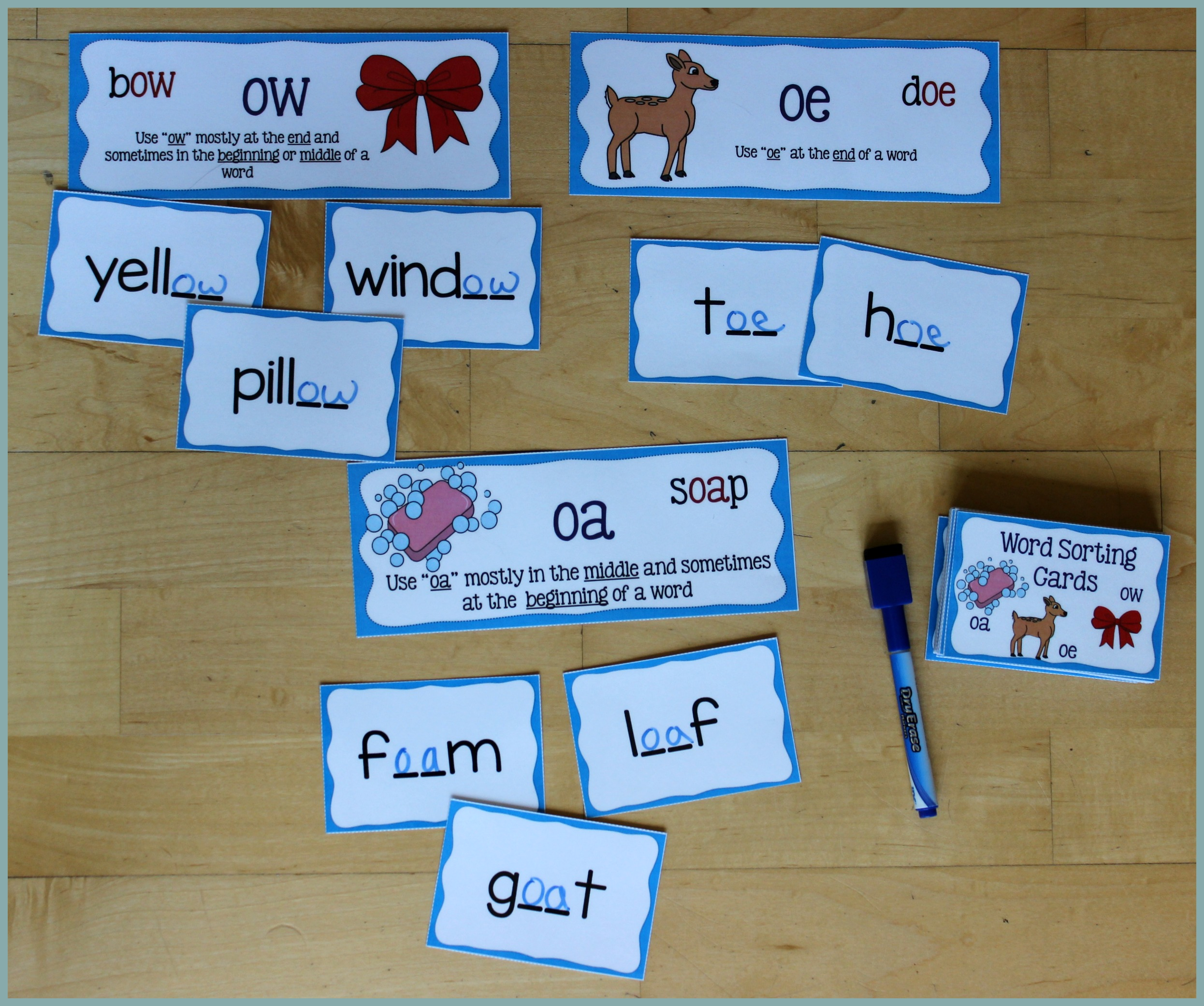 Activities for Teaching the oa/ow/oe Digraphs - Make Take & Teach