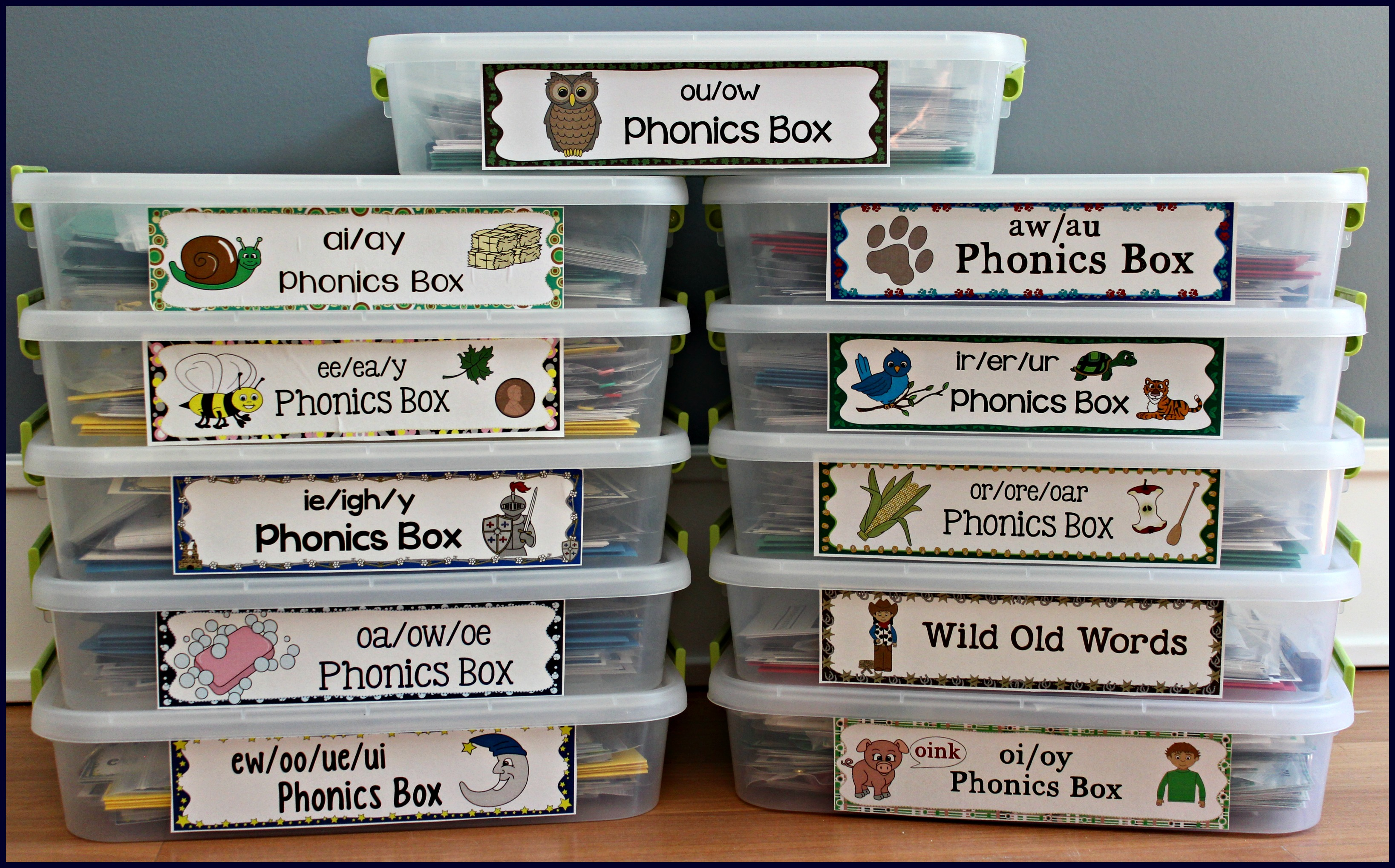 phonics activities Activities for Teaching the oaowoe