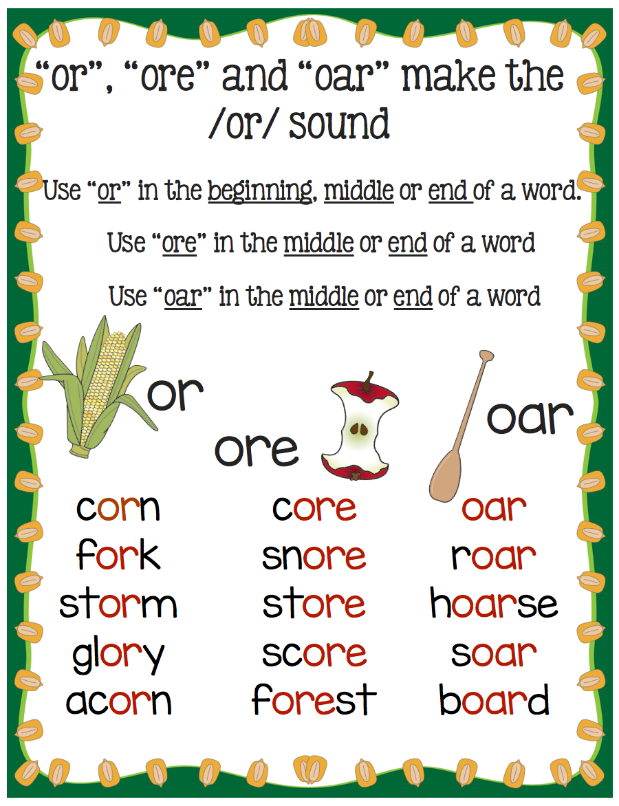 Hands-On Activities for Teaching or/oar/ore! - Make Take ...