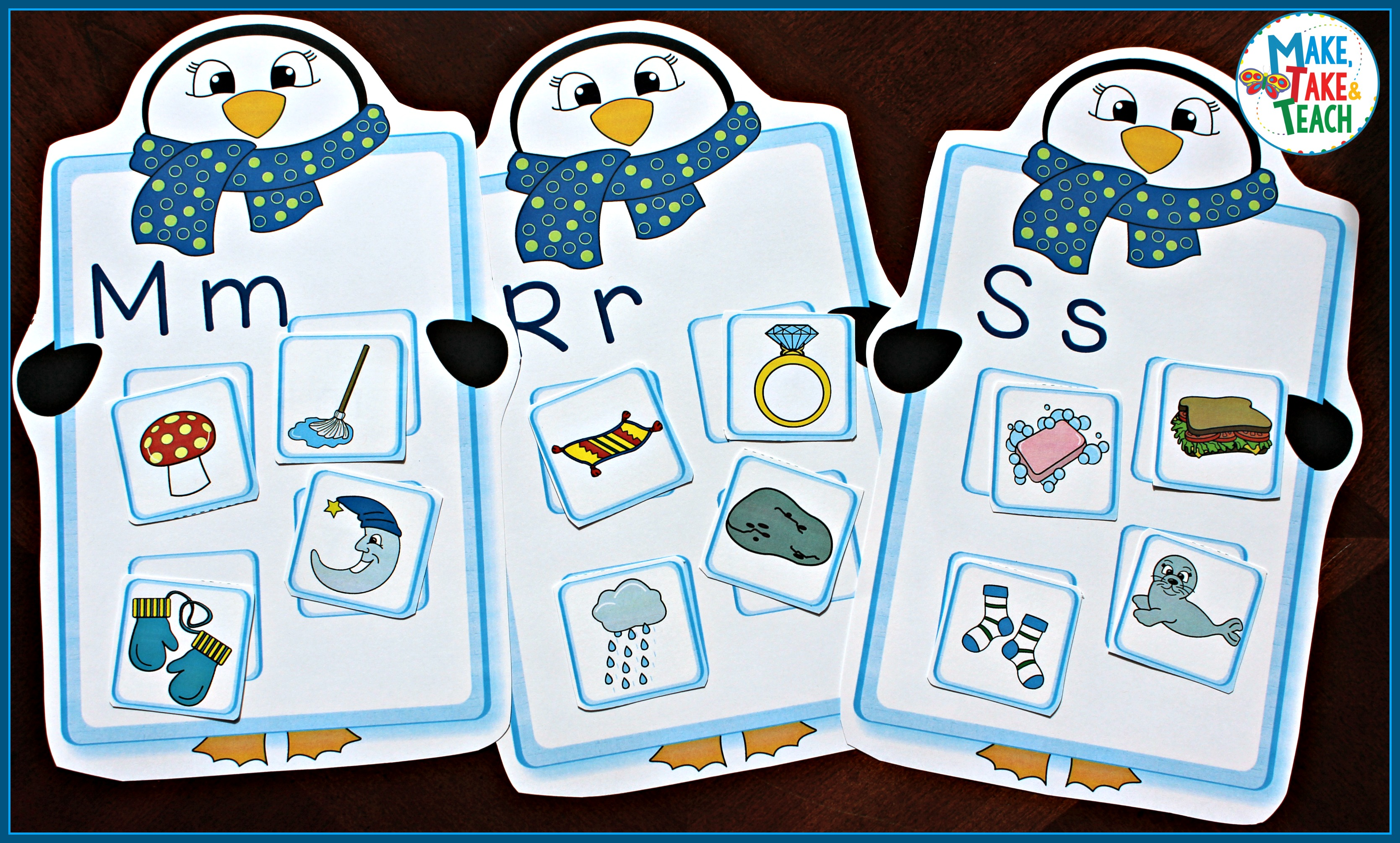 Penguin Alphabet Activity