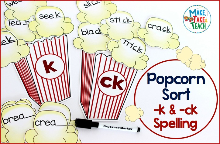 Teaching The K And Ck Spelling Pattern Make Take Teach