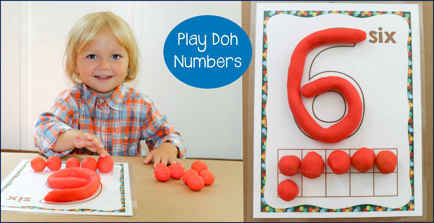 Play Doh numbers