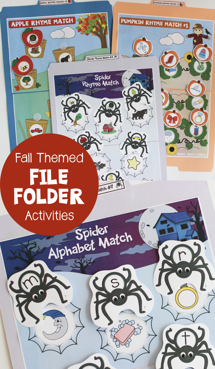 Fall Themed File Folder Activities Make Take Amp Teach