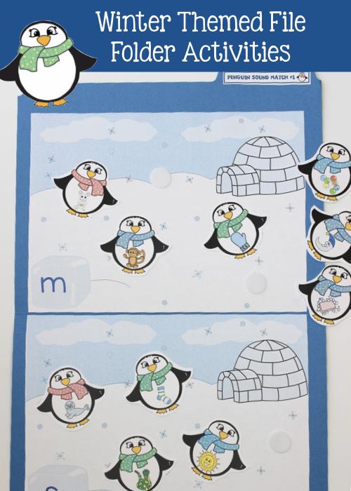 winter file folder activities