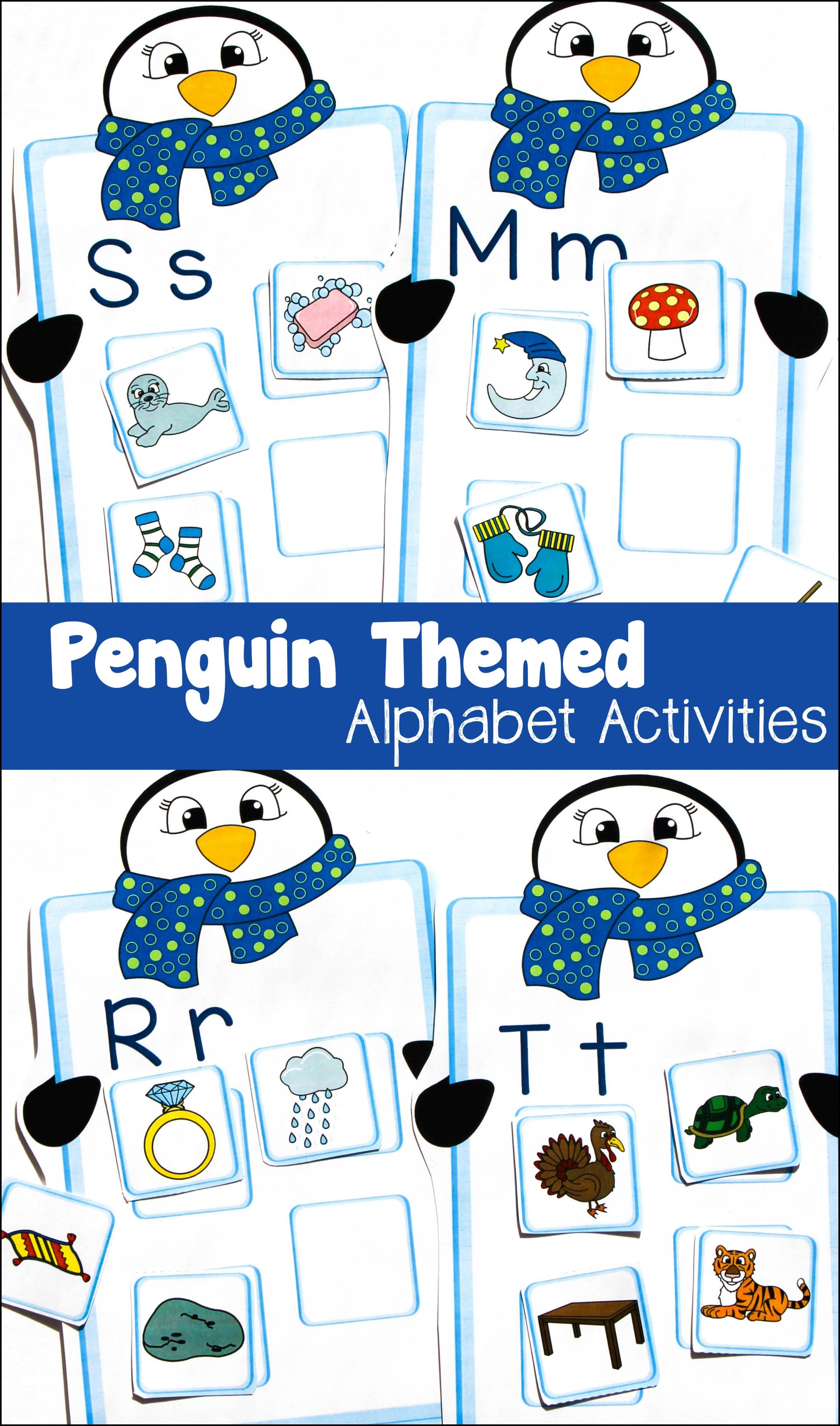 Penguin Themed Alphabet Match Activity! - Make Take & Teach
