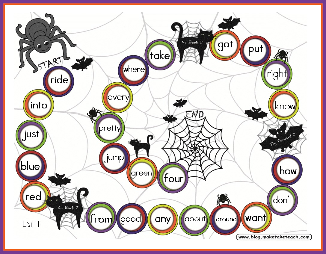 photograph about Halloween Printable Games called Halloween Themed Sport Discussion boards - Crank out Choose Educate