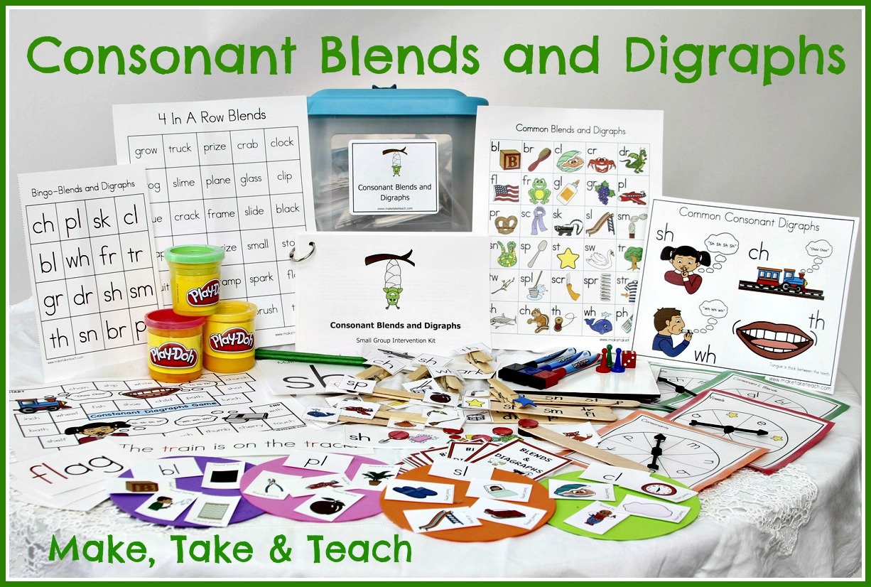 Teaching Blends and Digraphs - Make Take & Teach