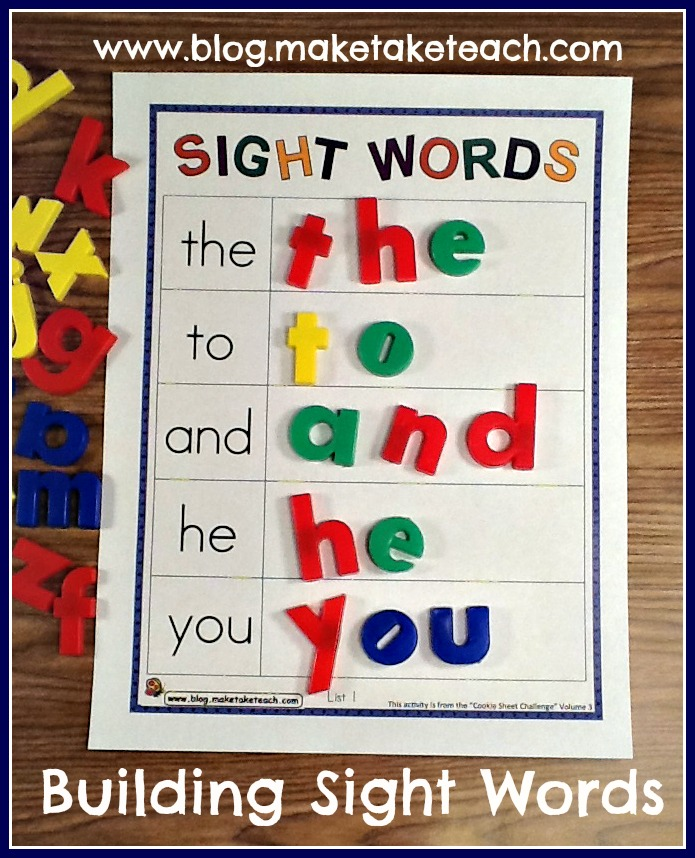 Teaching Sight Words - Make Take & Teach